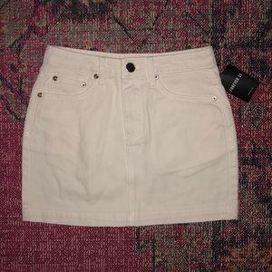 NWT White Denim Mini Skirt